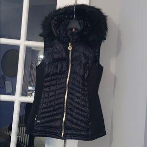 Michael Kors Faux Fur Hooded Vest